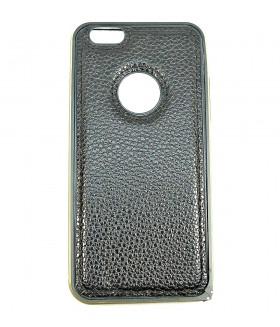 Чехол для iPhone (Айфон) 6/6s кожаный черного цвета