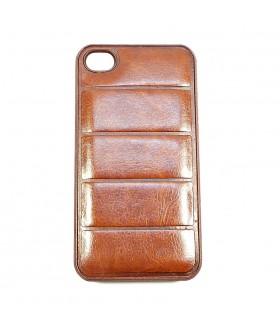 Чехол для iPhone (айфон) 4/4s кожаный коричневого цвета