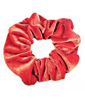 Резинка для волос большая бархатная красная