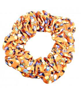 Резинка для волос большая оранжевая