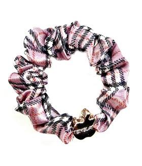 Резинка для волос розово-черная