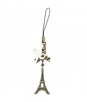 Брелок Эйфелева башня бронзовый
