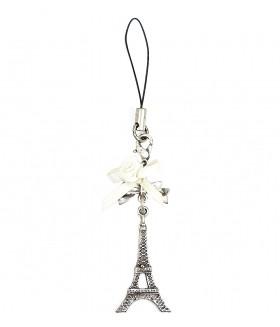 Брелок Эйфелева башня серебристый