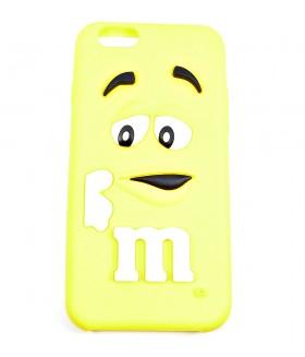 Чехол для iPhone (Айфон) 6/6s силиконовый желтый