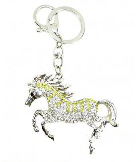 Брелок лошадка с кристаллами