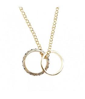 Кулоны два кольца на длинной цепочке