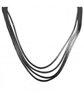 Цепочки длинные черные