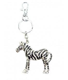 Брелок зебра со стразами