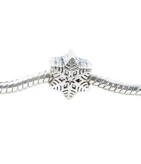 Шарм Пандора снежинка серебристого цвета