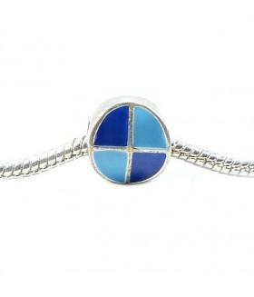 Подвеска - шарм Пандора с эмалью сине-голубая