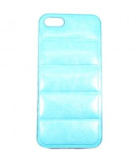 Чехол для iPhone (Айфон) 5/5s/5se кожаный голубой