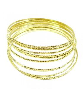 Браслеты золотистые комплект десять штук