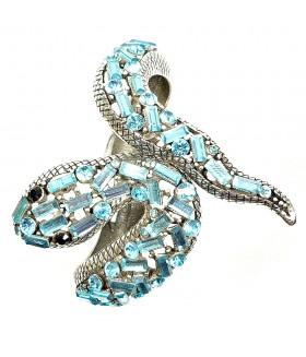 Браслет змейка голубой