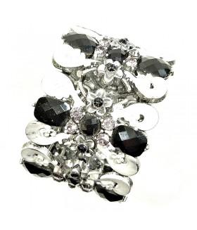 Браслет металлический серебристо-черный