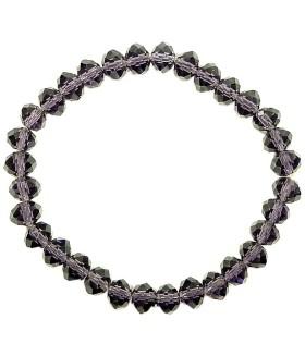 Браслет из чешского стекла фиолетовый