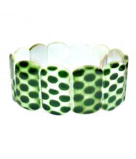 Браслет из перламутра зеленый