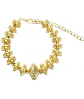 Браслет золотистый с кристаллами