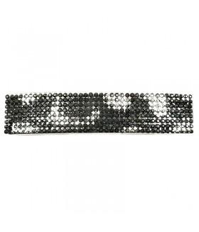 Заколка автомат для волос черно-серебристого цвета