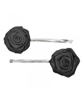 Невидимка для волос с черной розой набор 2 штуки