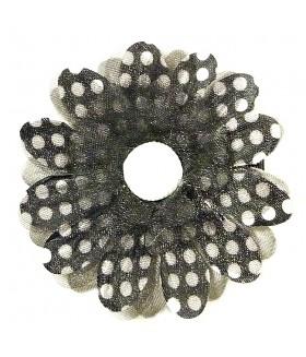 Зажим для волос с черным цветком