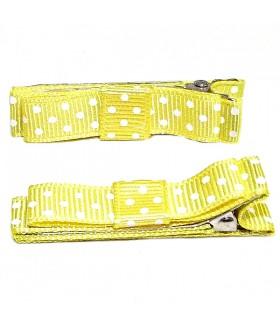 Зажим для волос желтый набор 2 штуки