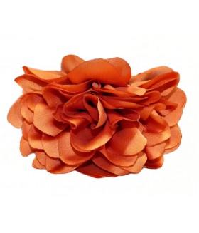 Краб для волос большой с оранжевым цветком