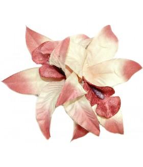 Заколка зажим для волос с большим розовым цветком