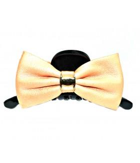 Краб для волос с оранжевым бантом