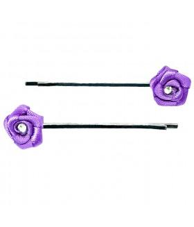 Невидимка с фиолетовым цветком набор 2 штуки