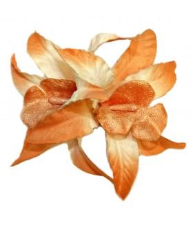 Зажим для волос с большим оранжевым цветком