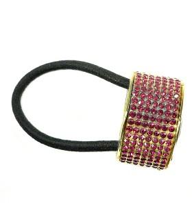 Резинка для волос с кольцом бордовая