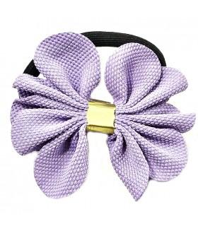 Резинка для волос с сиреневым цветком