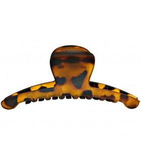 Краб для волос каучуковый коричневый матовый