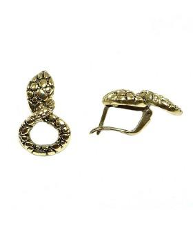 Серьги змейка с английским замком