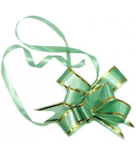 Подарочный бантик маленький зеленый