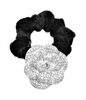 Резинка для волос с цветком из страз