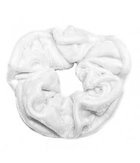 Резинка для волос большая белого цвета