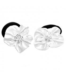 Резинка для волос с белым цветком набор 2 штуки