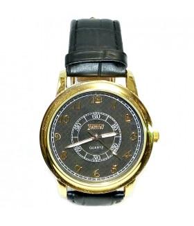 Часы FEATURELY с кожаным ремешком черного цвета