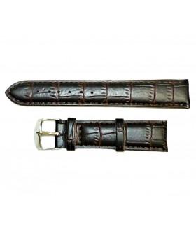Ремешок для часов кожаный темно-коричневого цвета