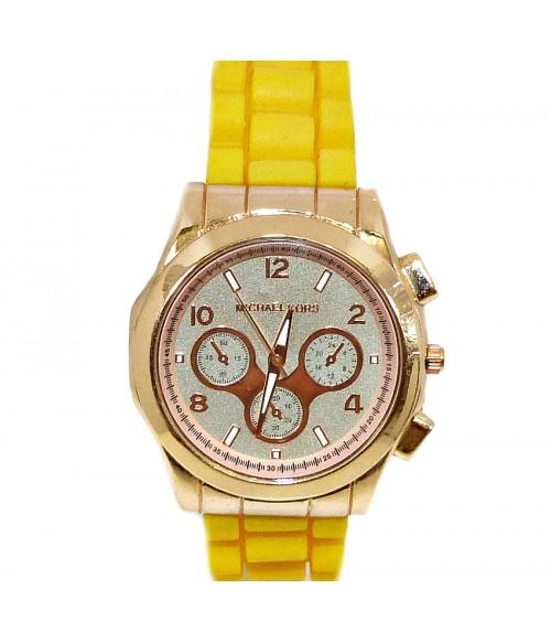 Часы MICHAEL KORS с силиконовым лимонным ремешком