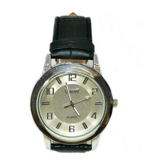 Часы FEATURELY с кожаным черным ремешком