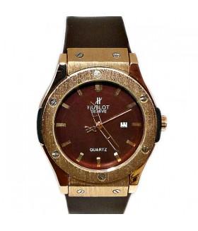 Часы HUBLOT с коричневым силиконовым ремешком