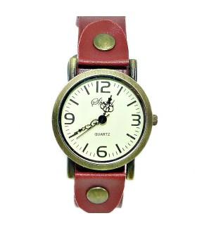 Часы Shshd с кожаным красным ремешком
