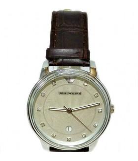 Часы EMPORIO ARMANI с коричневым кожаным ремешком