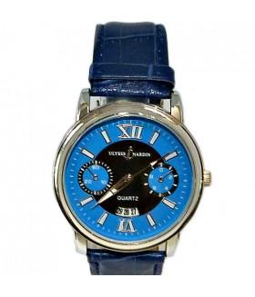 Часы ULYSSE NARDIN с синим кожаным ремешком