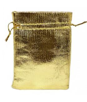 Мешочек подарочный закрытый 7х10 золотистый