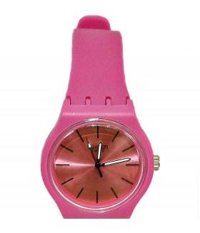 Часы Swatch с розовым силиконовым ремешком