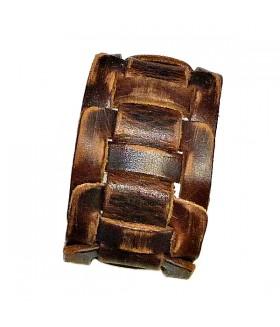 Браслет из натуральной кожи коричневый