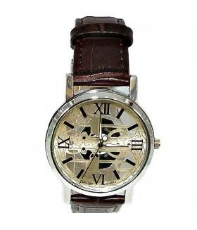 Часы FEATURELY с коричневым кожаным ремешком